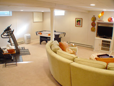 basement family room in Topeka